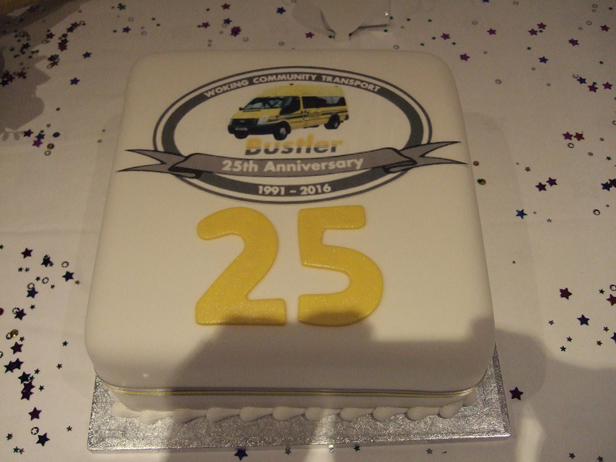 25 years of WokingBustler celebration cake 2016