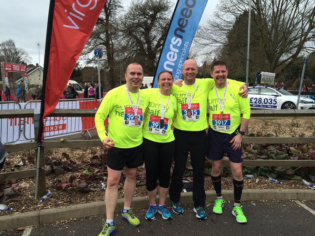 Half-Marathon WokingBustler team runners