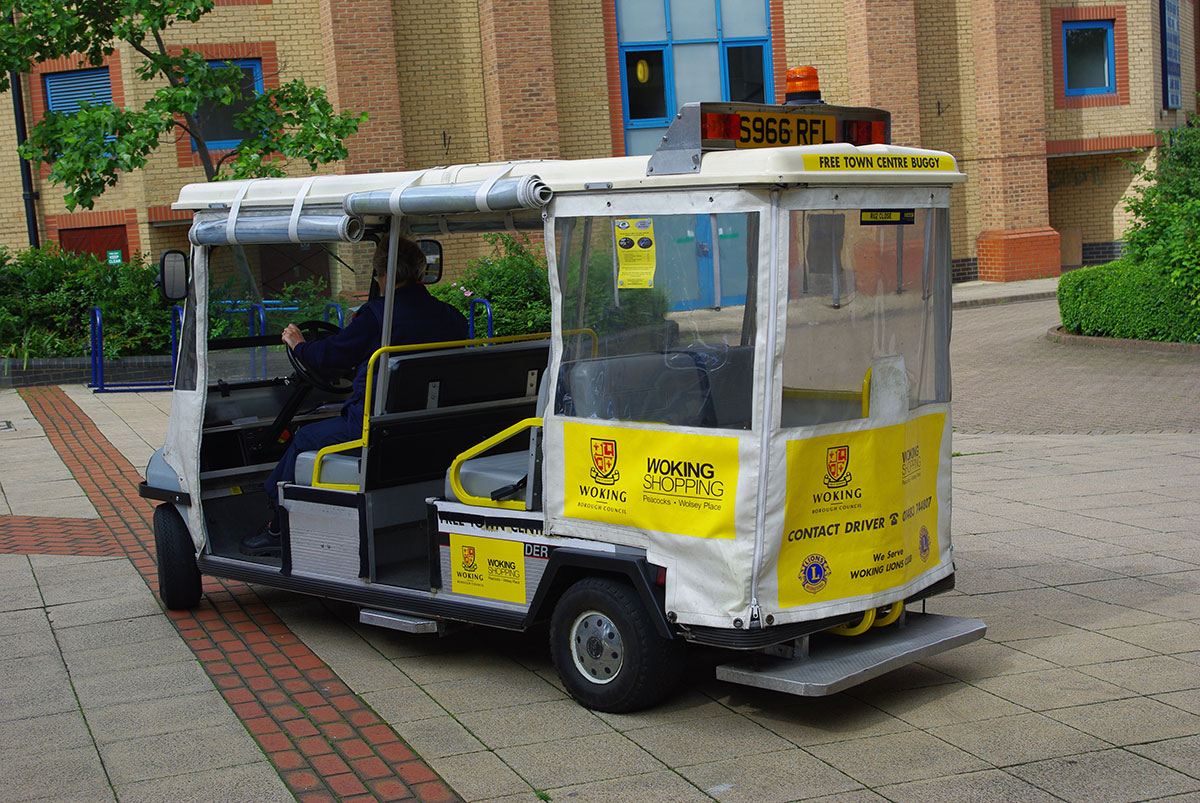 Town Buggy travelling around Woking