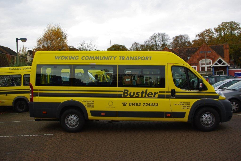 Yellow Bustler bus image