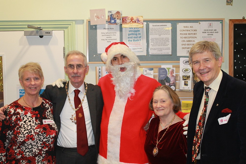 Santa at WokingBustler